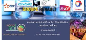 Atelier participatif sur la réhabilitation des sites pollués -18 septembre 2018